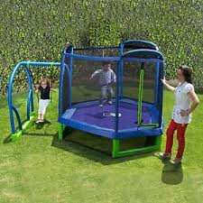 Small Backyard Swing Sets by Toddler Small Backyard Trampoline Swing Set For Kid Indoor Outdoor