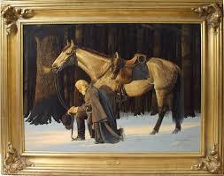 wonderful painting of general robert e lee praying for his men