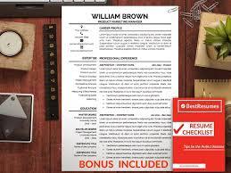 Resume Checklist Professional Resume Template Cv Resume Templates Creative Market