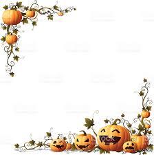halloween illustrations halloween pumpkin vine corner stock vector art 167587512 istock