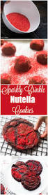 sparkling crinkle chocolate nutella cookies and the kitchen