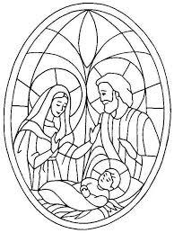 glass art jesus nativity coloring color luna
