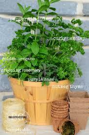 Herb Gardens by Kitchen Herb Garden In A Basket Stonegable