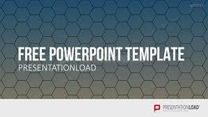 presentationload free powerpoint template honeycombs