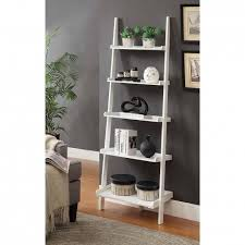 White Leaning Bookshelves by White Leaning Bookcase Bookcase Ideas