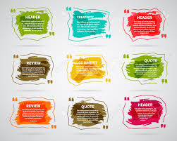 watercolor ink splash quote blank templates quote bubbles