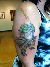 12 awesome half sleeve yoda tattoos