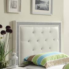 buy breen upholstered headboard size queen finish white