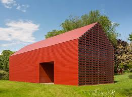 Red Barn Real Estate Minimalist Red Barn Clad In Swisspearl Cladding Corp