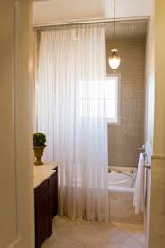 sheer shower curtain foter
