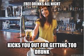 Funny Bartender Memes - scumbag bartender memes quickmeme