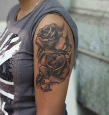 roses sleeve realism tattoo studio in bangalore best tattoo