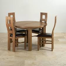 ebay dining table and 4 chairs round extendable dining table rustic solid oak extending 4 wave back