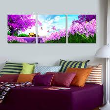 Landscape Canvas Prints by 3 Panel Modern Paintings Beautiful Romantic Canvas Prints Pastoral