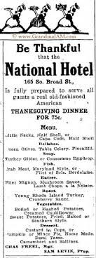 thanksgiving dinner 100 years ago restaurant menus for 1914