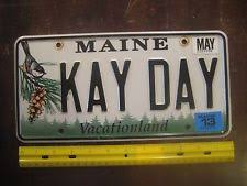 Maine Vanity License Plates Vanity License Plate Maine Ebay