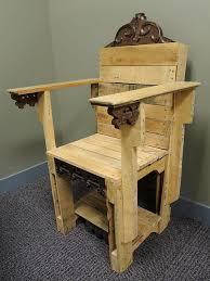 Wooden Skull Chair Skull Pallet Chair Project 8 Image
