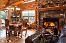 golden eagle log homes log homes org golden eagle log homes lofted log 1969al great room dining area