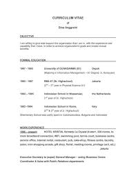Ideas To Put On A Resume Good Objectives To Put On A Resume Prissy Ideas Good Objective