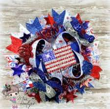 fourth of july hair bows 4th of july hair bows white and blue pigtail bows patriotic
