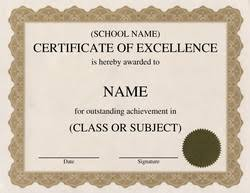 Free Certificate Of Excellence Template Free Word Certificate Templates Wording Geographics