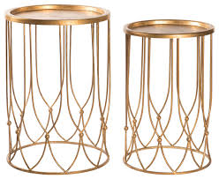 Gold Side Table Appealing Gold Side Table With Wishbone Regency Gold