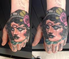 hand gypsy tattoo by emily rose murray