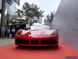 ferrari dealership showroom ferrari 488 gtb launched in mumbai priced at inr 3 88 crores ex