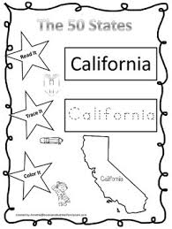 the 50 states read it trace it color it preschool geography