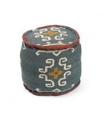 style kilim jute ottoman pouf