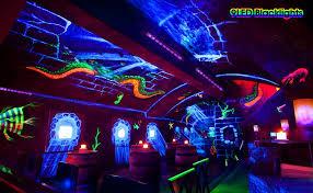 Light Night Club Oppsk Uv Led Bar With 9ledx3w Black Light Metallic Black