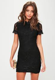 black lace dress black lace sleeve mini dress missguided