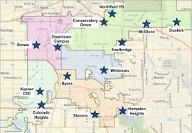 denver schools map map of major bond projects chalkbeat