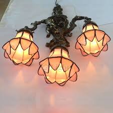 Stained Glass Wall Sconce Antique 3 Light Stained Glass Wall Sconce For Bedroom