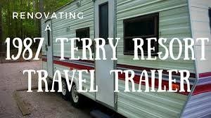 1987 terry resort fleetwood travel trailer walkaround youtube