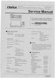clarion vrx6570rz service manual immediate download