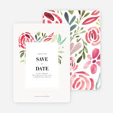 save the date designs strokes of floral wedding save the date cards paper culture
