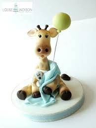 giraffe cake topper pdf tutorial christening baby shower from