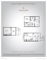 skyline 2 bedroom floor plan m skyline