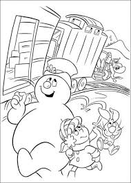 printable coloring pages frosty snowman picture 12 550x770