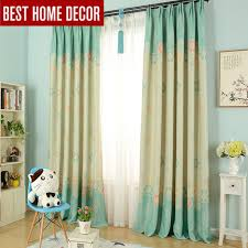 Green Kids Curtains Aliexpress Com Buy Modern Cartoon Flower Blackout Curtains For