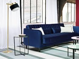 canapé bleu marine canap bleu marine unique 26 best canapé bleu en velours images on