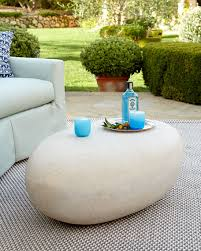 river stone coffee table riverstone outdoor table
