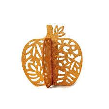 thanksgiving centerpiece ornament golden orange glitter pumpkin
