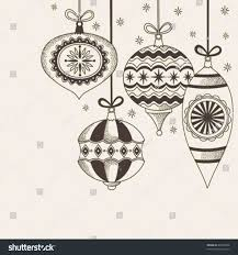 new year design ink stock vector ornaments sketches new