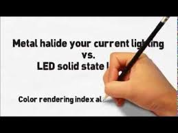 metal halide light color metal halide vs led lighting retail rectangular lights youtube