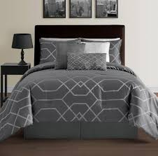 Down Alternative Comforter Sets Bed U0026 Bedding Hampton 7 Piece Modern Geometric Lightweight Down