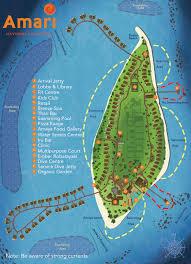 Map Of Maldives Resort Layout Amari Havodda Maldives