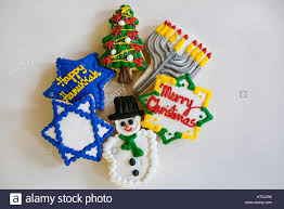 chanukah cookies christmas and chanukah cookies decoration stock photo 16313316