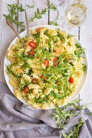 cold pasta dish lemon rocket pasta salad lauren caris cooks